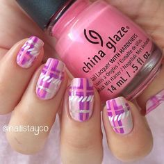 Plaid Pattern Nails - Trends & Style