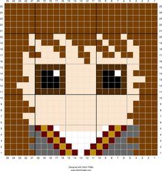 Hermione Granger | Designed by PixiTrix (Kimberly Allard) | Stitch Fiddle - Stitch Fiddle