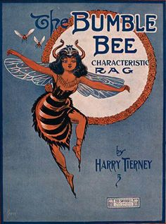 ≗ The Bee's Reverie ≗  The Bumble Bee Rag ~ Vintage sheet music cover.