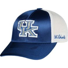 Kentucky Wildcats TOW Women Blue White Satina Mesh Adjustable Strap Ha – Sporting Up