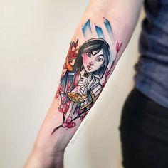 Icon Tattoo, P Tattoo, Make Tattoo, Dope Tattoos, Dream Tattoos, Tatoos, Disney Tattoos Unique, Unique Tattoos, Mushu Mulan