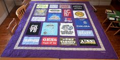 Commemorate the college years with a Classic T-Shirt Quilt