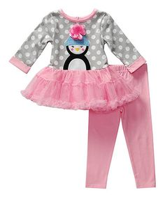 Another great find on #zulily! Pink Penguin Tunic & Leggings - Infant, Toddler & Girls #zulilyfinds