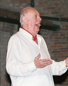 Dario Fo (born 24 March 1926) is an Italian satirist, playwright, theatre director, actor, composer and recipient of the 1997 Nobel Prize in Literature. His dramatic work employs comedic methods of the ancient Italian commedia dell'arte, a theatrical style popular with the working classes.