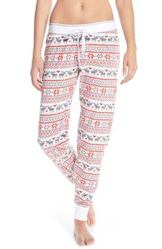 Free shipping and returns on PJ Salvage Fleece Lounge Pants at Nordstrom.com. A cute, cozy pattern colors thesestoasty fleecejoggers with stretchy banding sealing in the warmth at the drawcord waist and taperedhems.