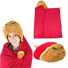 Maryland Terrapins Huggable Hooded Blanket - Red