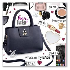 """What's in my Bag?"" by dressedbyrose ❤ liked on Polyvore featuring Gucci, Victoria's Secret, Bobbi Brown Cosmetics, Too Faced Cosmetics, Anna Sui and Fendi"