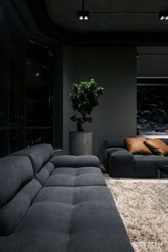 minimalist & unique interior home design ideas 42 > Fieltro. Home Room Design, Dream Home Design, Modern House Design, Living Room Designs, Living Room Decor, Gothic Living Rooms, Design Kitchen, Kitchen Ideas, Living Spaces