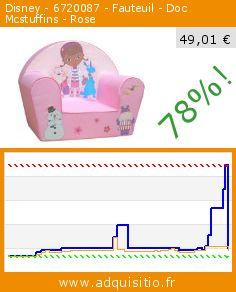 Disney - 6720087 - Fauteuil - Doc Mcstuffins - Rose (Puériculture). Réduction de 78%! Prix actuel 49,01 €, l'ancien prix était de 222,10 €. http://www.adquisitio.fr/disney/6720087-fauteuil-doc