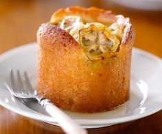 Feijoa and lemon syrup cakes recipe - By FOOD TO LOVE, The feijoa slices on top of these delicious little tangy lemon syrup cakes will caramelise as they cook.