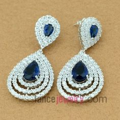 Fashion zirconia pendant decorated drop earrings $11
