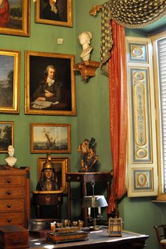 Mario Praz house-museum, Rome. Pinned from www.rocaille.it