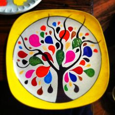 Painted plate  $25 with stand