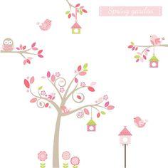 Springtime Tree Fabric Wall Sticker