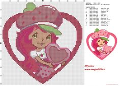 Strawberry Shortcake cross stitch pattern (click to view)