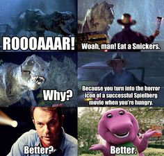 snickers memes | Snickers Meme - Jurassic Park by Dr-Anime on deviantART