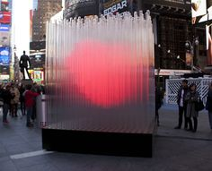 Giant interactive heart sets the tone this year in New York city.