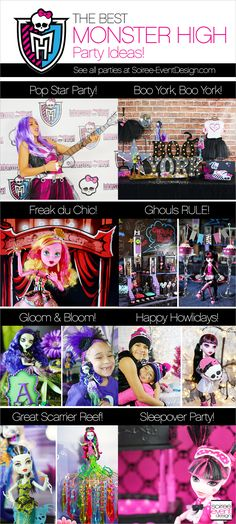 | The Best Monster High Party Ideas! | http://soiree-eventdesign.com