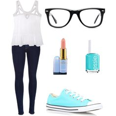 Dream outfit?? by tristashysheep on Polyvore featuring polyvore, interior, interiors, interior design, home, home decor, interior decorating, Olive + Oak, rag & bone, Converse, Muse, MAC Cosmetics and Essie