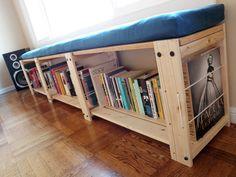 Fai la tua mensola in un accogliente panchina lettura.