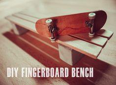 DIY FINGERBOARD BENCH