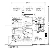 Mediterranean Prairie Style House Plan 43008 Level Two
