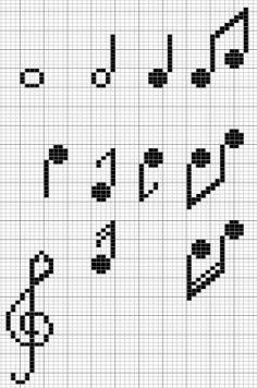 Music Design Pattern The Effective Pictures We Offer You About Music songs A quality picture can tell you many things. You can find the most beautiful pictures that can be presented to you about Music Crochet Pixel, Crochet Chart, Filet Crochet, Cross Stitching, Cross Stitch Embroidery, Cross Stitch Patterns, Designer Knitting Patterns, Knitting Designs, Cross Stitch Music