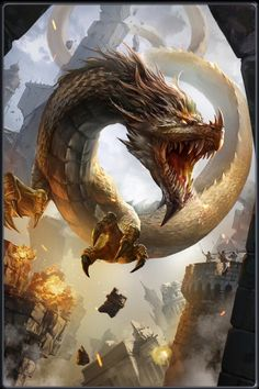 Beautiful pictures of dragons Dragon art and drawings Dark Fantasy Art, Fantasy Artwork, Dragon Images, Dragon Pictures, Fantasy Monster, Monster Art, Tiamat Dragon, Mythical Dragons, Legendary Dragons