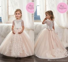 This site presents a complete wallpaper nifty images, presented to you seekers of information about wallpapers images. Flower Girl Outfits, Little Girl Pageant Dresses, Blush Flower Girl Dresses, Flower Girl Tutu, Lace Flower Girls, Little Girl Outfits, Girls Dresses, Golden Dress, First Communion Dresses