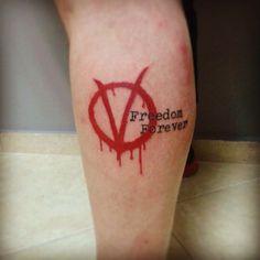 V for vendetta tattoo by john vogdo