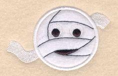 Mummy Circle Applique - 4x4 | Halloween | Machine Embroidery Designs | SWAKembroidery.com Starbird Stock Designs