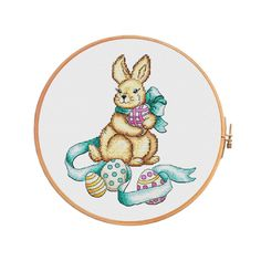 Easter bunny  cross stitch pattern  modern cross stitch
