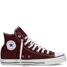 Burgundy/maroon high top converse! Want these so bad!