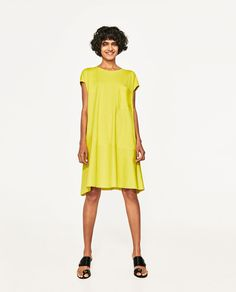 Image 1 of COMBINED POPLIN DRESS from Zara