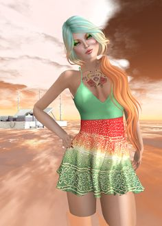 #secondlife Summer in Green and Orange - https://secondsocial.eu/summer-in-green-and-orange/
