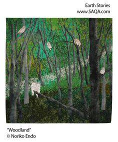 Art quilt by Noriko Endo #artquilts #SAQA