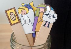 Popsicle Stick Nativity Puppets {101 Days of Christmas at lifeyourway.net}