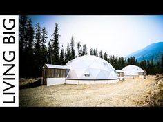 Off-Grid Tiny House Paradise With Geodesic Dome Greenhouse - YouTube Her tiny home is awesome!