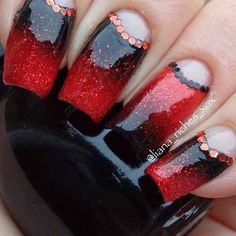 Black And Red Gel Nail Ideas - Cute Simple Nail Designs