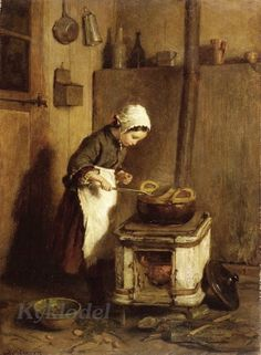 Pierre-Edouard Frere (French, 1819-1886) «The Little Housekeeper» 1857