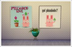 Sims 4 Designs: Freezer Bunny Wall Art