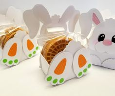 A Star For Chiemi: Nodding Easter Bunnies and A Pop Up Easter Basket Card Bunny Crafts, Easter Crafts For Kids, Easter Gift, Easter Bunny, Treat Holder, Easter Baskets, Paper Crafts, Box, Ideas