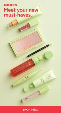 Shop Pixi, now at Kohl's. Featuring all kinds of amazing makeup, skincare and more, this brand is sure to be an instant favorite. From MatteLast Liquid Lip and Large Lash Mascara to Rose Glow Mist and Glow Mud Mask, you'll find a few new must-haves for y Beauty Skin, Beauty Makeup, Glowy Makeup, Beauty Care, Mascara, Pixie Makeup, Best Makeup Brands, Rose Oil, Makeup Kit