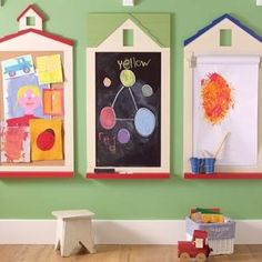 multimedia art wall for play space