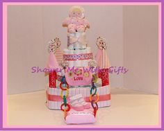 Princess Diaper Castle by ShowerMeWithGifts on Etsy, $80.00