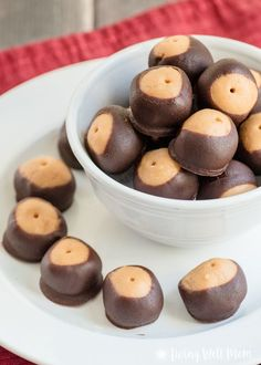 The Best Paleo Buckeyes - a healthier take on the favorite chocolate covered peanut butter ball, this Paleo recipe is grain-free, gluten-free, dairy-free, refined-sugar-free, and so delicious, theyll disappear just as quickly as the original version.