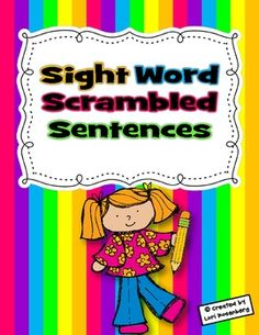 Students put the word cards in order to make sentences. Can be played whole group or in stations. Students can write the sentences in the booklet, as well. The booklet comes in color and in black and white and with a choice of two different titles.