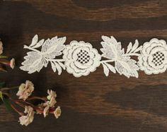 lace applique A lot of 2 vintage lace applique made in by lulalo