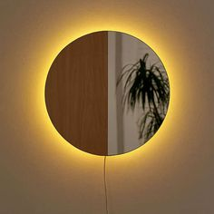 Shop Circle Mirror Sconce at Urban Outfitters today. We carry all the latest styles, colors and brands for you to choose from right here. Sconce Lighting, Home Lighting, Mirror With Lights, Wall Lights, Circle Light Mirror, Diy Mirror, Mirror Decal, Mirror Lamp, Aesthetic Room Decor