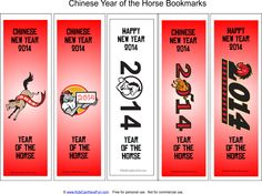 Year of the Horse Bookmarks
